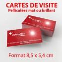 Cartes de Visite 8,5 x 5,4 cm - Pelliculage