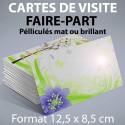 Cartes de visite 12,5 x 8,5 cm - Pelliculage