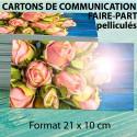Cartes de visite 21 x 10 cm - Pelliculage