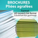 Brochures A3 Ouvert / A4 Fermé / couverture épaisse